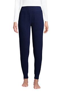 Pantalon Lounge et Nuit Gaufré en Coton Stretch, Femme