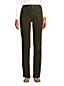 Pantalon Droit en Velours Côtelé Stretch Taille Haute, Femme Stature Standard