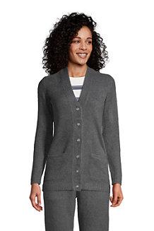 Women's Long Sleeve Slounge V-neck Cardigan