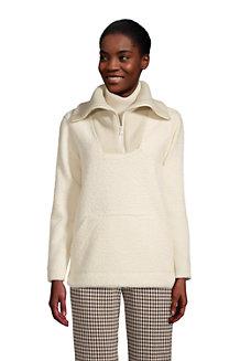 Women's Cosy Fleece Boucle Half Zip Jumper