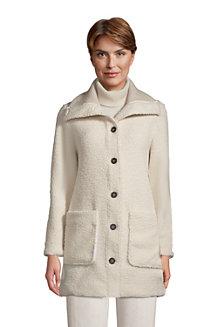 Women's Cosy Fleece Boucle Coat