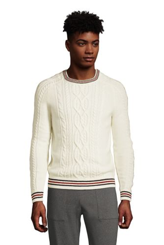 Men's Lighthouse Cable Crew Neck Sweater