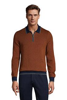 Men's Supima Half Zip Polo Shirt