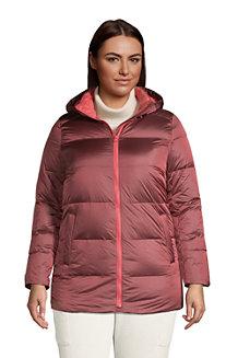 Women's Hooded Wide Channel Down Puffer Jacket