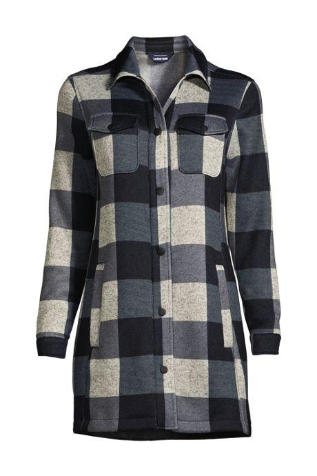 Women's Sweater Fleece Long Shirt Jacket
