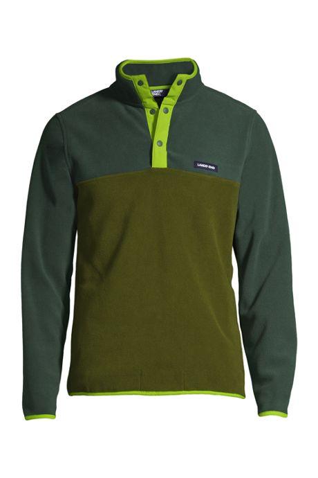 Men's Heritage Fleece Snap Neck Pullover Jacket