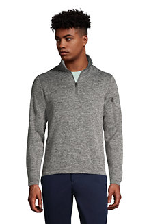 Men's Half Zip Sweater Fleece Polo Neck Jumper