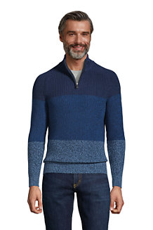 Pullover DRIFTER mit Blockstreifen und Vorderzipper für Herren