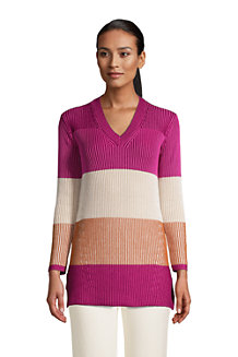 Pullover DRIFTER mit V-Ausschnitt Gestreift für Damen