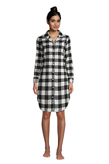 Women's Long Sleeve Flannel Nightshirt