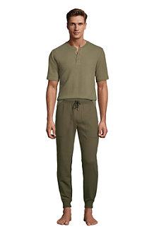 Men's Waffle Henley Pyjama Top