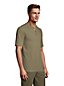 T-Shirt Henley Gaufré Lounge et Nuit en Coton Stretch, Homme Stature Standard