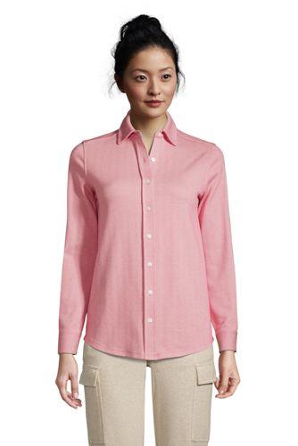 Chemise Sport Knit à Manches Longues, Femme Stature Petite