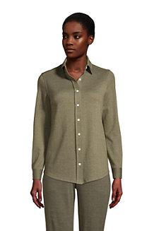 Chemise Sport Knit à Manches Longues, Femme