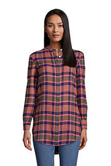 Women's Flannel A-Line Tunic Shirt
