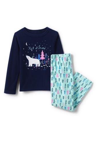 Fleece-Pyjama mit Grafik-Print für Kinder