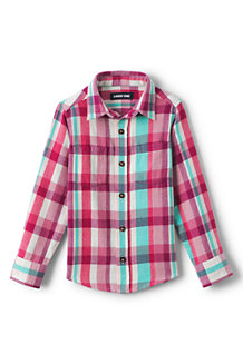 Langärmeliges Flanellhemd für Kinder