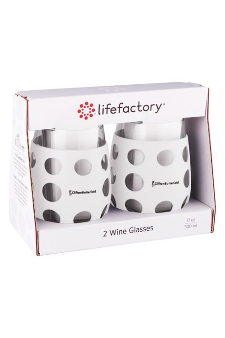 lifefactory 17oz Wine Glass with Silicone Sleeve 2 Pack