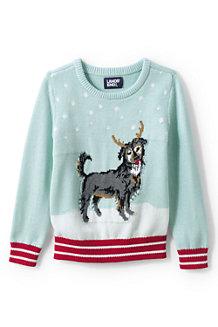 Baumwoll-Pullover mit Rundhalsausschnitt für Kinder
