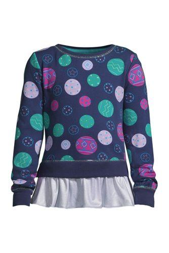 Sweatshirt Cozy à Ourlet Volanté, Fille