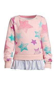 Sweatshirt mit Rüschensaum für Mädchen