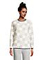 Women's Petite Long Sleeve Sherpa Sweatshirt
