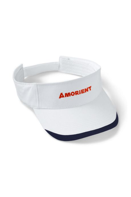 Brushed Cotton Twill Custom Embroidered Visor Hat