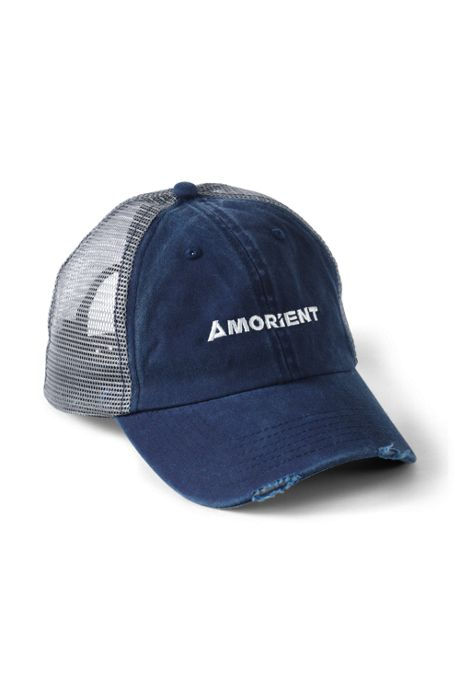 Washed Canvas Custom Logo Distressed Trucker Hat