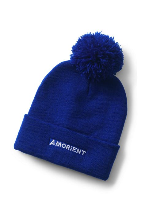 Custom Logo Pom Pom Beanie Winter Hat with Cuff