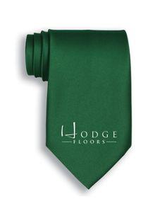 Unisex Custom Logo Solid Tie
