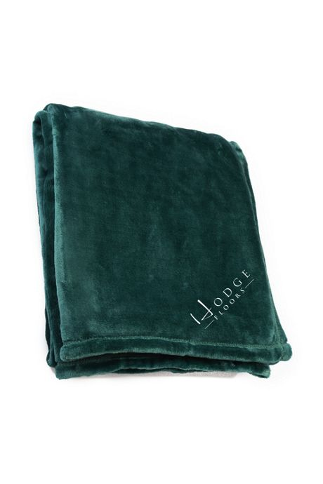 Fleece Custom Embroidered Throw Blanket