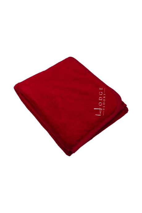 Coral Fleece Custom Embroidered Throw Blanket