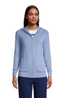 Women's Cashmere Front Zip Hoodie Cardigan