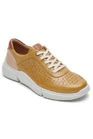 Cobb Hill Women's Wide Width Juna Perforated Leather Sneakers