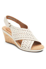 Cobb Hill Women's Janna Slingback Leather Wedge Sandals