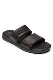 Rockport Men's Wide Width Lucky Bay Dress Leather Slide Sandals