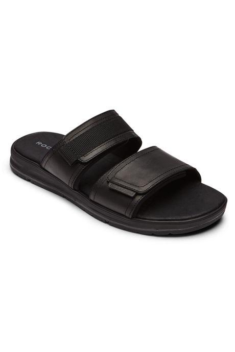 Rockport Men's Lucky Bay Dress Leather Slide Sandals