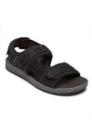 Rockport Men's Wide Width Lucky Bay Sport 3 Strap Sandals