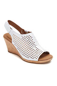 Rockport Women's Briah Perforated Sling Wedge Sandals