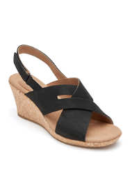 Rockport Women's Briah Slingback Wedge Sandals