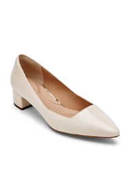Rockport Women's Wide Width Total Motion Gracie Leather Pump Heels