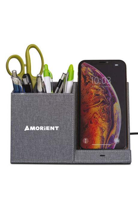 Truman Custom Logo Wireless Device Charging Desk Organizer