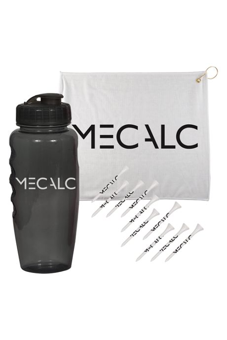3 Piece Custom Logo Golf Kit in Gripper Water Bottle