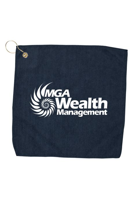 Custom Logo Microfiber Golf Towel with Hook