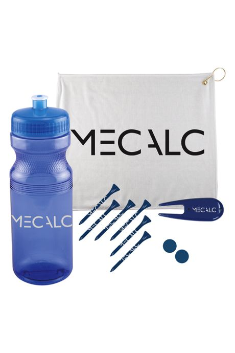 5 Piece Custom Logo Caddy Golf Kit in Water Bottle