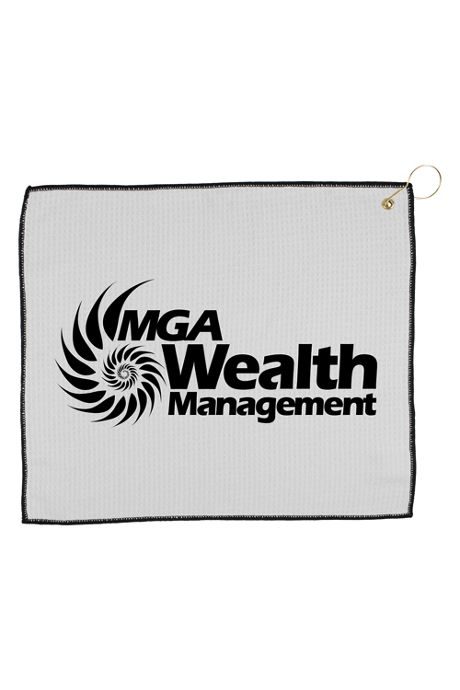Custom Logo Waffle Knit Golf Towel with Hook