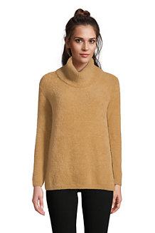 Pullover aus Fransengarn mit weitem Kragen für Damen