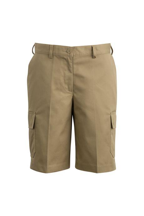 Edwards Garment Women's Extended Plus Size Uniform Utility Chino Cargo Shorts