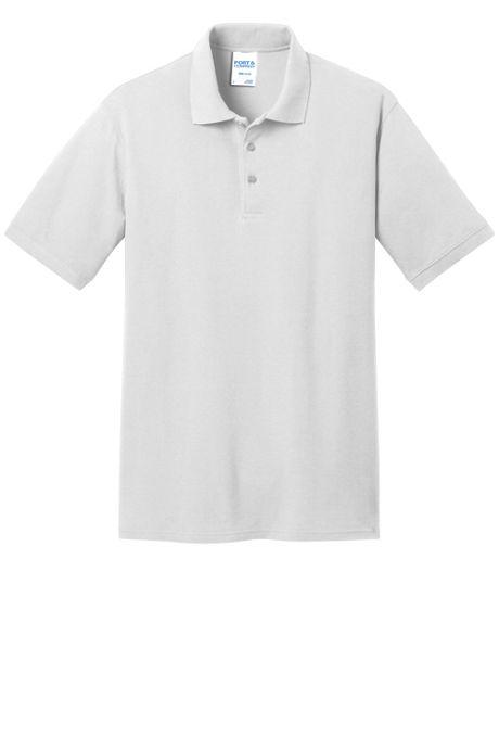 Port & Company Men's Big Embroidered Logo Core Pique Polo Shirt