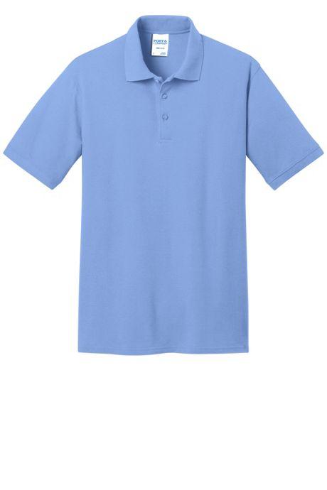 Port & Company Men's Regular Embroidered Logo Core Pique Polo Shirt